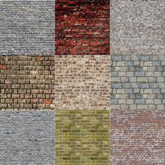 Free Printable Ho Texture Print All Of The Brick Paper