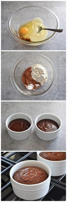 Fudge Brownie Pots (for two) Recipe