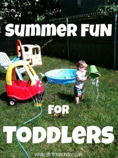 Summer Fun for Toddlers ~ Chock full of ideas!