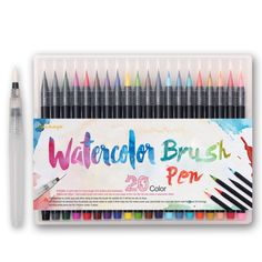 20 Color de la Pintura de Alta Calidad Suave Pincel Lápiz de Acuarela Set Marcadores Copic Pluma Caligrafía Comic Manga Efecto Mejor de Libros Para Colorear en Arte Marcadores de Office & School Supplies en AliExpress.com | Alibaba Group