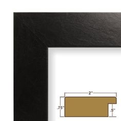 "10x36 Custom Picture Frame / Poster Frame 2"" Wide Complete Black Executive Leather Frame (74093). This frame is manufactured in the USA, using the best materials and tools available. Our frames larger than 12x18 inches include styrene facing (acrylic upgrade is available), a rigid cardboard backing and hanging hardware. Some assembly is required to attach the hanging hardware to the frame. Hanging hardware includes: (1) 1"" Nail, (1) 30# capacity Wall Hanger, (1) 9'6"" length of Hanging Wire…"