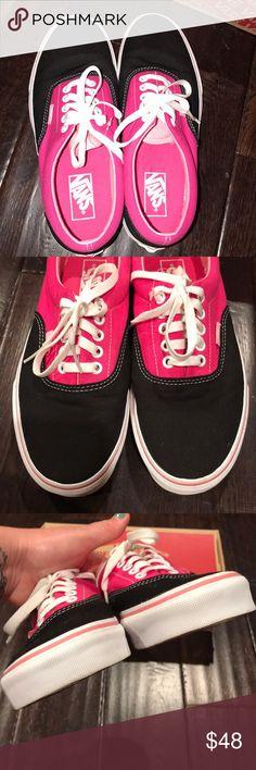 ef3f570831d Vans Era Shoes Worn once EUC No stains flaws imperfections Hot pink black  Vans Era Shoes Comes with original shoebox Size 8 mens