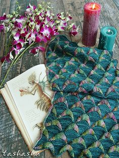 Ravelry: Snood Caribbean Mermaid pattern by Svetlana Gordon Knitting Charts, Lace Knitting, Knitting Stitches, Knitting Patterns, Crochet Patterns, Shawl Patterns, How To Purl Knit, Knitted Shawls, Knit Scarves
