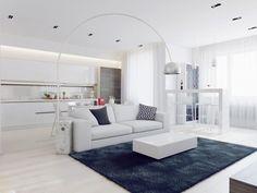 Apartamento blanco - salón