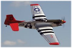 RC Mustang P51 red tail. My personal favorite.