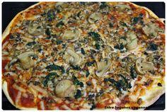 Entre fogones veganos: Pizza de champiñones y espinacas