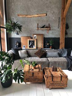Home Decoration Livingroom .Home Decoration Livingroom Design Loft, House Design, Patio Design, Design Design, Budget Home Decorating, Decorating Ideas, Living Room Inspiration, Home Fashion, Cheap Home Decor