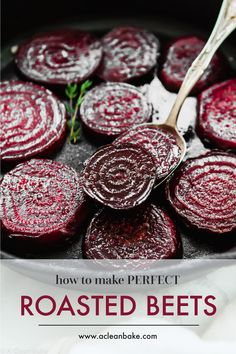 Properly roasted beets are a far cry from those tasteless pink slabs from a can. Roasted beets are sweet tender and delicious! Properly roasted beets are a far cry from those tasteless pink slabs from a can. Roasted beets are sweet tender and delicious! Veggie Recipes, Paleo Recipes, Whole Food Recipes, Cooking Recipes, Beet Recipes Healthy, Recipes For Beets, Beetroot Recipes, Beet Salad Recipes, Roasted Vegetable Recipes