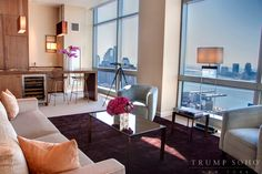 Come see this Hudson River view from our penthouse at Trump SoHo