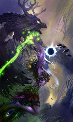 Moonkin and night elf druid