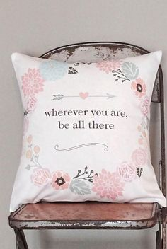 Wherever You Are Pillow Cover