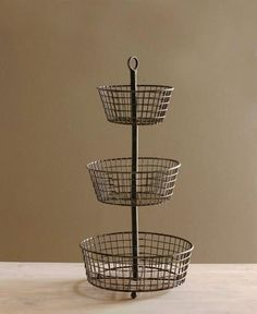3 Tier Wire Basket ; omg! So freaking cool, my mom would totally use something like this!