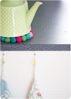 Grytunderlägg av ullpärlor – Wool bead trivets | Craft & Creativity – Pyssel & DIY