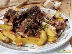 Abbacchio al forno con le patate  #ricette #food #recipes