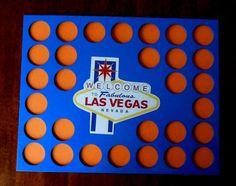 Vegas Poker Chip Insert fits 30 Poker chips Las by CarvedByHeart