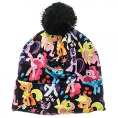 My Little Pony Dash and Friends All Over Print Pom Beanie Knit Costume Hat *** Check this awesome product by going to the link at the image.