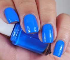 Essie: ☆ Make Some Noise ☆ ... a bright blue creme nail polish from the Essie Summer Neon Collection 2015 (use double base coat)