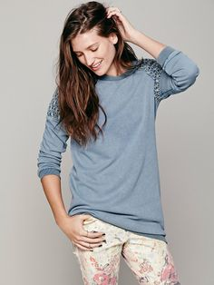Free People Washed Lace Inset Tunic, $148.00