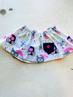 Owl cotton skirt by LillyBelleMarket on Etsy