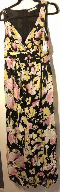 NWT Old Navy Sleeveless V-Neck Floral Print Maxi Dress - Size 6 - $45 RV- NEW! #OldNavy #SleevelessDressMaxiDress #SummerBeach