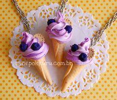 colar sorvetão - blueberry - pokkuru - doceria de bijoux
