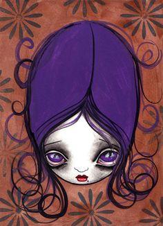 Purple  Painting  - Purple  Fine Art Print