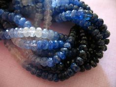 Shop Sale.. Blue SAPPHIRE Rondelles Shaded Luxe by FabulousRocks, $15.00