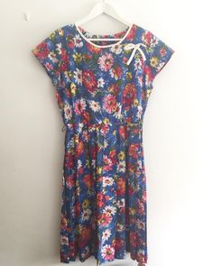 New product bluevivid flowers vintage dress  #fab.#vintagefashion #vintageclothing #1950s #1960s#ヴィンテージ #ビンテージ #ヴィンテージファッション #ヴィンテージドレス #ヴィンテージワンピース #花柄ワンピース