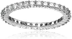 14k White Gold Eternity Ring (1cttw, H-I Color, I2-I3 Clarity), Size 7 *** More info could be found at the image url. (Amazon affiliate link)