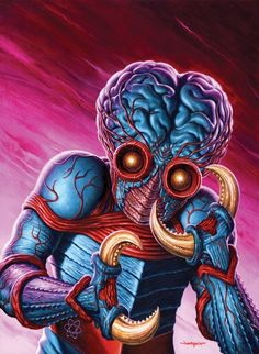 """Metaluna Mutant"" (by Jason Edmiston) portrait for Horrorhound magazine's This island Earth retrospective issue. Sci Fi Comics, Horror Comics, Sci Fi Horror, Horror Art, Horror Films, Science Fiction Art, Science Art, Dark Fantasy, Fantasy Art"