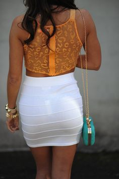 486b15e7f0 love the top and the skirt not the clutch bag thing