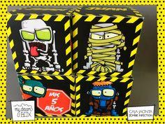 Caja J1 Souvenir Cumpl Infantil Zombie Infection Hombre Lobo - $ 29,00 en Mercado Libre Trunk Or Treat, Cube, Thing 1, Halloween, Zombie Cakes, Werewolves, Corporate Events, Free Market, Halloween Stuff