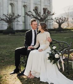 modest wedding dress with long sleeves from alta moda bridal. -- (modest bridal gowns)  --