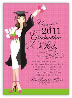 Glamour Girl Graduation Invitation