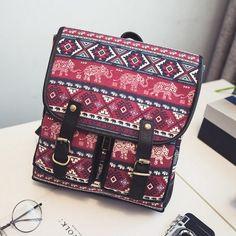 Vintage Square Ethnic Backpacks – Meteora Shop