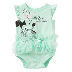 """Disney's Minnie Mouse """"My First Minnie"""" Tutu Bodysuit - Baby Girl"""