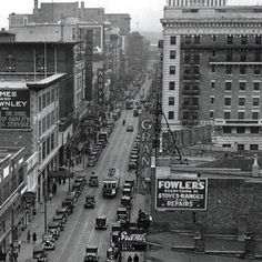 It was 83 years ago today that Virginian-Pilot photographer Charles Borjes climbed to an upper floor of Norfolks Flatiron building aimed his camera south down Granby street and captured this image of a typical Saturday in 1933. There appears to be plenty of pedestrian traffic and it looks like most of if not all the parking spaces along the street are occupied. There are three movie houses that can be seen in the photo. The Granby The Loews State and the Norva. The Granby was featuring…