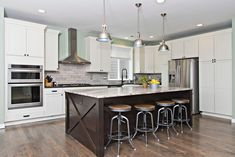 New kitchen w/huge island, marble, farm sink, hi-end SS appliances. 4 bed 2.75 bath beautiful home just sold Snoqualmie Ridge, Modern Floor Plans, Industrial Style Lighting, Farm Sink, Under Cabinet Lighting, Home Office Space, Bonus Rooms, Cozy Living Rooms, Sliding Glass Door