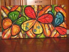 pinturas acrilicas para cuadros flores