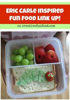 Eric Carle Inspired Fun Food Link up on creativefunfood.com
