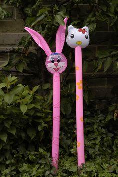 Hello Kitty and Bunny Rabbit Balloon kitty Christmas Stocking Fillers, Christmas Gifts, Balloon Animals, Bunny Rabbit, Hello Kitty, Balloons, Birthdays, Parties, Seasons