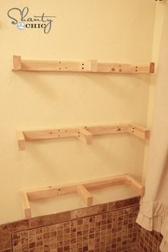 Floating Shelves How to build I have looked at other sites. This one seems to be the best way