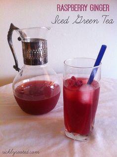 Raspberry Ginger Iced Green Tea