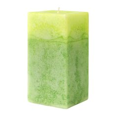 IKEA - ANSÖKA, Scented block candle, A soft scent of green grass and lilies of the valley, like an early morning in a summer garden.The candle has the same beautiful color and pleasant scent during its entire burn time, beacause it is colored and scented through.
