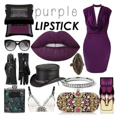 """""""PURPLE lips"""" by obscura ❤ liked on Polyvore featuring Lime Crime, Christian Louboutin, Illamasqua, Marchesa, Alexander McQueen, Blue Nile, Sevan Biçakçi, Gucci, Ted Baker and Loveday London"""
