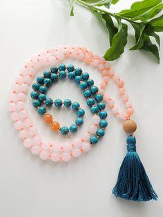 Turquoise and Rose Quartz Mala