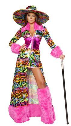 Rainbow Womans Pimp Costume 3pcs - Click picture TWICE to order u0026 see pricing  sc 1 st  Pinterest & pimps and pimpettes party - Google Search | pimp u0026 pimpettes | Pinterest