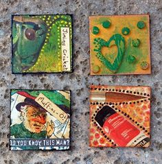 "I like making inchies (1"" square pieces of mini-art)"