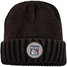 New York Rangers Mitchell & Ness Vintage Ribbed Cuffed Knit Hat - Brown - $23.99