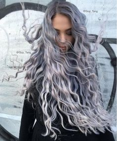 Smokey Lilac Locks Sizzle As A Brand New Hair Colour Fad